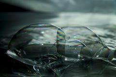 Διάφορες συνδυασμένες φυσαλίδες με ένα ουράνιο τόξο Στοκ Εικόνες