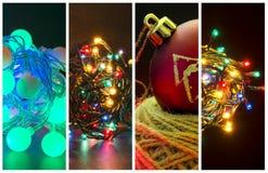Διάφορες φωτογραφίες με τις διακοπές Χριστουγέννων θέματος στοκ φωτογραφίες με δικαίωμα ελεύθερης χρήσης