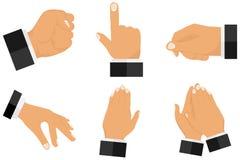 Διάφορες χειρονομίες με τα χέρια ελεύθερη απεικόνιση δικαιώματος
