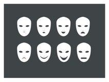 Διάφορη έκφραση μασκών Στοκ εικόνα με δικαίωμα ελεύθερης χρήσης