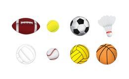 Διανυσματικές αθλητικές σφαίρες Στοκ Εικόνα