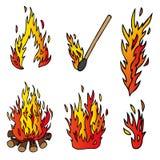 Διάφορη συλλογή πυρκαγιάς Στοκ Εικόνα