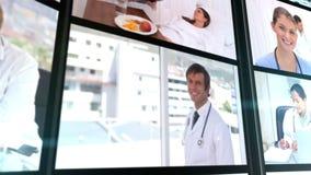 Διάφοροι κοντοί συνδετήρες που παρουσιάζουν γιατρό στο νοσοκομείο φιλμ μικρού μήκους