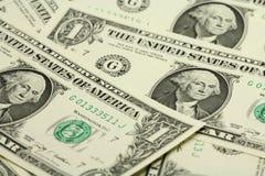 Διάφοροι λογαριασμοί σε ένα αμερικανικό δολάριο Στοκ εικόνα με δικαίωμα ελεύθερης χρήσης