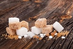 Διάφοροι τύποι ζαχαρών στοκ εικόνα