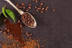 Διάφοροι τύποι καφέδων στοκ εικόνες