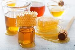 Διάφοροι τύποι μελιών και κηρηθρών στοκ φωτογραφίες με δικαίωμα ελεύθερης χρήσης