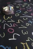 Διάφοροι χρωματισμένοι αριθμοί Στοκ Εικόνες