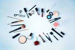 Διάφορος αποτελέστε και προϊόντα ομορφιάς στοκ εικόνες