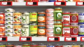 Διάφορος τρισδιάστατος μπορεί τρόφιμα στοκ φωτογραφίες με δικαίωμα ελεύθερης χρήσης