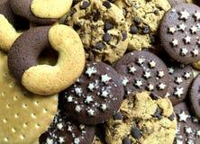 Διάφορος τύπος μπισκότων Τοπ όψη Στοκ φωτογραφία με δικαίωμα ελεύθερης χρήσης