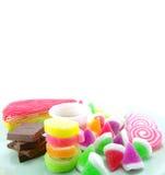 Διάφορος sweetmeat στο άσπρο υπόβαθρο Στοκ εικόνα με δικαίωμα ελεύθερης χρήσης