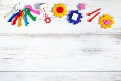 Διάφορο πλαίσιο παιχνιδιών μωρών, διάστημα αντιγράφων Στοκ φωτογραφία με δικαίωμα ελεύθερης χρήσης
