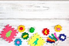 Διάφορο πλαίσιο παιχνιδιών μωρών, διάστημα αντιγράφων Στοκ Εικόνες
