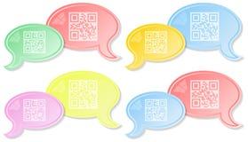 Διάλογος συνομιλίας QR Στοκ εικόνα με δικαίωμα ελεύθερης χρήσης