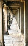 Διάδρομος, ναός Angkor Wat, Καμπότζη Στοκ Φωτογραφίες