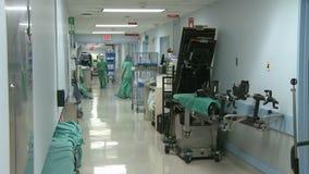 Διάδρομος νοσοκομείων απόθεμα βίντεο