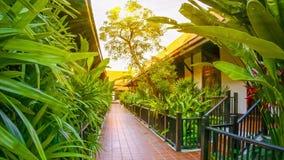 Διάδρομος σε ένα άνετο ξενοδοχείο. Ταϊλάνδη φιλμ μικρού μήκους