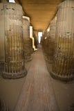 Διάδρομος στηλών ναών Saqqara Στοκ Εικόνες