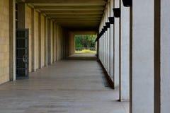 Διάδρομος του όμορφου κομματιού της αρχιτεκτονικής Στοκ Εικόνα