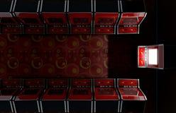 Διάδρομος Arcade με το ένα που φωτίζεται Στοκ Εικόνες