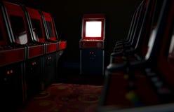 Διάδρομος Arcade με το ένα που φωτίζεται Στοκ Εικόνα