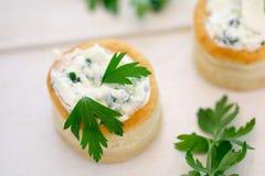Διέξοδος Au έντασης με το τυρί και το μαϊντανό Στοκ εικόνα με δικαίωμα ελεύθερης χρήσης