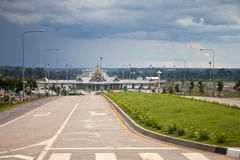 Διέλευση συνόρων μεταξύ της Ταϊλάνδης και του Λάος Στοκ Εικόνα