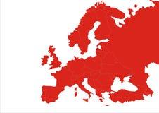 Διαβάθμιση ηπείρων της Ευρώπης Στοκ Εικόνα