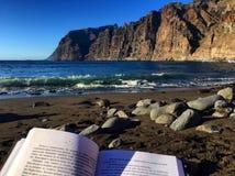 Διαβάστε στην παραλία στοκ φωτογραφία με δικαίωμα ελεύθερης χρήσης