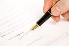 διαβάστε την υπογραφή κα&tau Στοκ Φωτογραφία