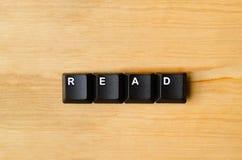 Διαβάστε τη λέξη στοκ φωτογραφία με δικαίωμα ελεύθερης χρήσης
