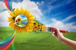 διαβίωση eco στοκ εικόνες