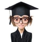 Διαβαθμισμένος σπουδαστής κοριτσιών κινούμενων σχεδίων Στοκ Εικόνες