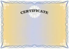 Διαβαθμισμένο δίπλωμα πιστοποιητικών Στοκ εικόνες με δικαίωμα ελεύθερης χρήσης