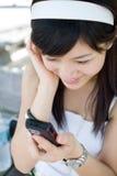 διαβασμένες μήνυμα γυναίκες κειμένων στοκ εικόνες