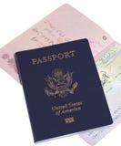 διαβατήρια δύο στοκ εικόνα