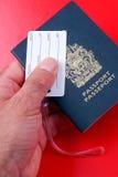 διαβατήριο αποσκευών ετικετών Στοκ φωτογραφίες με δικαίωμα ελεύθερης χρήσης