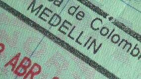 Διαβατήριο, θεώρηση, μετανάστευση, ταξίδι απόθεμα βίντεο