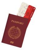 Διαβατήριο και εισιτήριο Στοκ Εικόνα