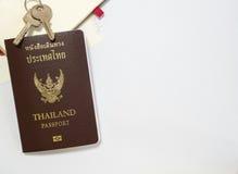 Διαβατήριο με το διάστημα Στοκ εικόνα με δικαίωμα ελεύθερης χρήσης