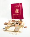 διαβατήριο χρημάτων πλήκτρ&om Στοκ φωτογραφίες με δικαίωμα ελεύθερης χρήσης