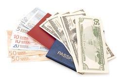 διαβατήριο χρημάτων στοκ φωτογραφίες με δικαίωμα ελεύθερης χρήσης