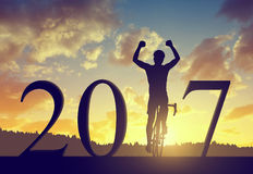 Διαβιβάστε στο νέο έτος 2017 Στοκ Εικόνες