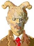 διαβολικό κοστούμι προσώπων Στοκ Φωτογραφία