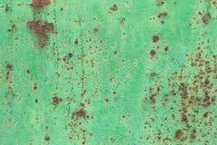 Διαβρωμένο πράσινο υπόβαθρο μετάλλων Στοκ εικόνα με δικαίωμα ελεύθερης χρήσης