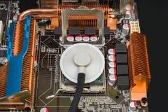 Διαγνωστικά ενός παλαιού επεξεργαστή στηθοσκοπίων Στοκ Φωτογραφίες