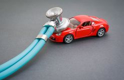 Διαγνωστικά, επιθεώρηση, επισκευή και συντήρηση αυτοκινήτων στοκ εικόνα