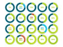 Διαγράμματα και γραφικές παραστάσεις πιτών Διανυσματικό infographics απεικόνιση αποθεμάτων