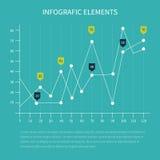Διαγράμματα στατιστικών επιχειρήσεων διανυσματική απεικόνιση